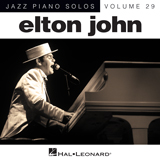 Download or print Blue Eyes Sheet Music Notes by Elton John for Piano