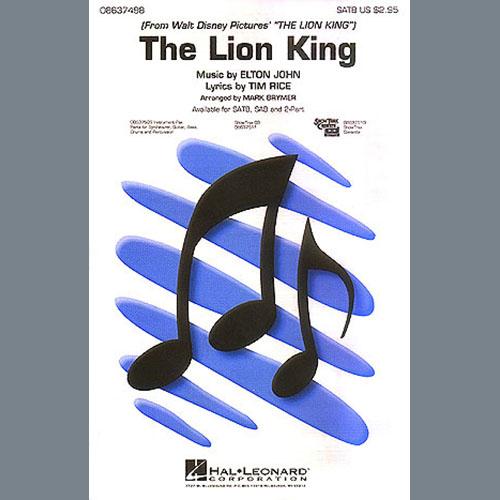 Elton John The Lion King (Medley) (arr. Mark Brymer) - Bass profile picture