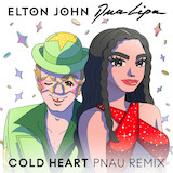 Download Elton John & Dua Lipa Cold Heart (PNAU Remix) Sheet Music arranged for Piano, Vocal & Guitar (Right-Hand Melody) - printable PDF music score including 5 page(s)