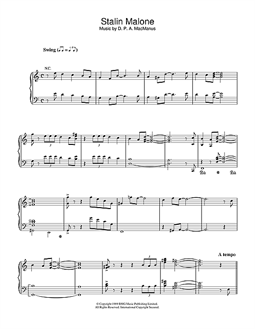 Download Elvis Costello 'Stalin Malone' Digital Sheet Music Notes & Chords and start playing in minutes