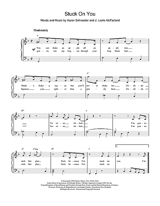 Elvis Presley Stuck On You sheet music notes and chords