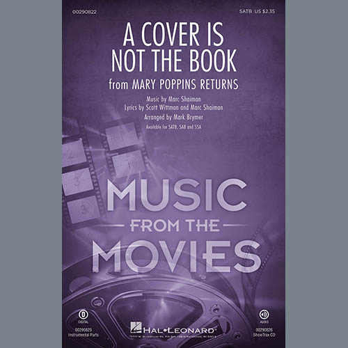 Emily Blunt, Lin-Manuel Miranda & Company A Cover Is Not the Book (from Mary Poppins Returns) (arr. Mark Brymer) - Bass profile picture