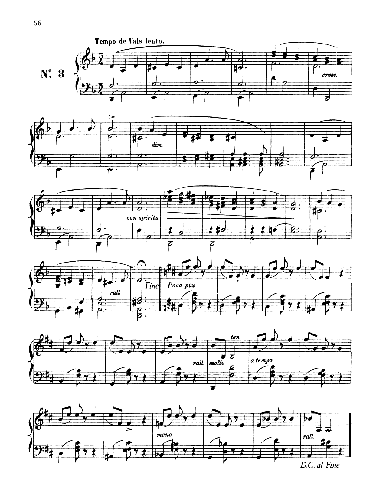Download Enrique Granados 'Tempo De Vals Lento' Digital Sheet Music Notes & Chords and start playing in minutes