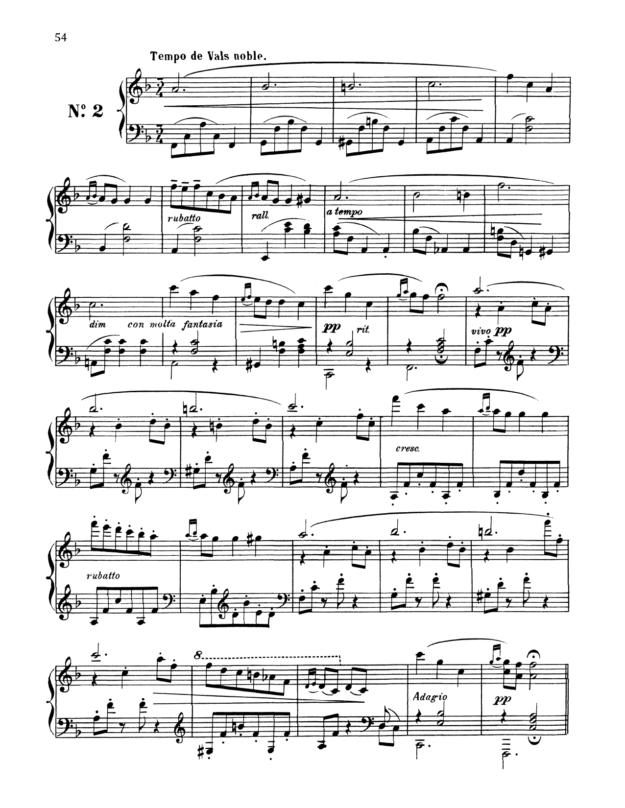 Download Enrique Granados 'Tempo De Vals Noble' Digital Sheet Music Notes & Chords and start playing in minutes