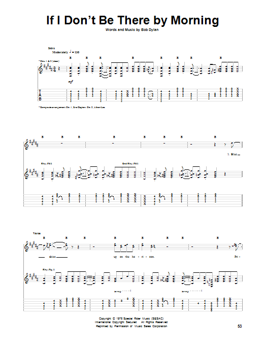 Eric Clapton If I Don't Be There By Morning sheet music notes and chords