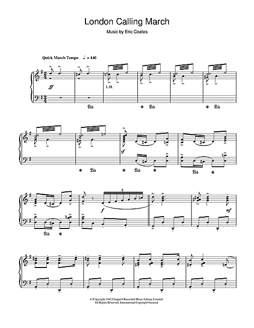 Download Eric Coates 'London Calling March' Digital Sheet Music Notes & Chords and start playing in minutes
