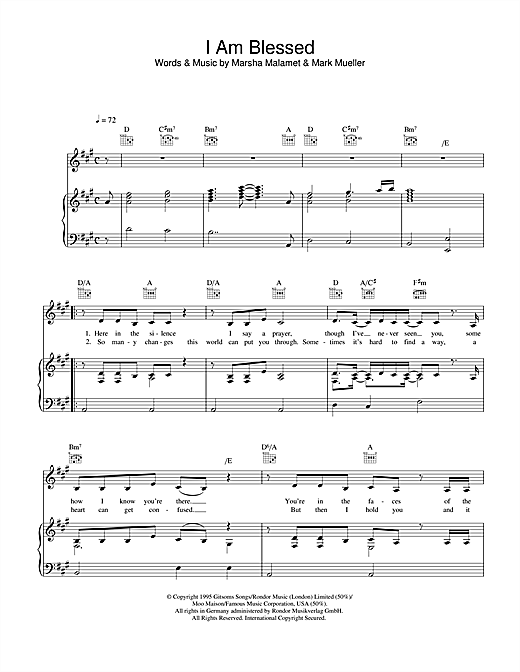 Eternal I Am Blessed sheet music notes and chords