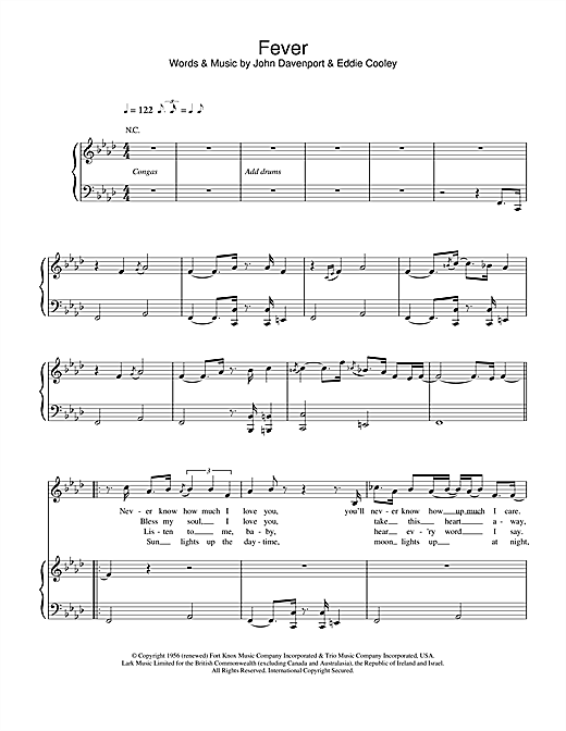Eva Cassidy Fever sheet music notes and chords