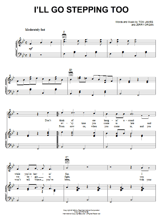 Flatt & Scruggs I'll Go Stepping Too sheet music preview music notes and score for Guitar Tab including 2 page(s)
