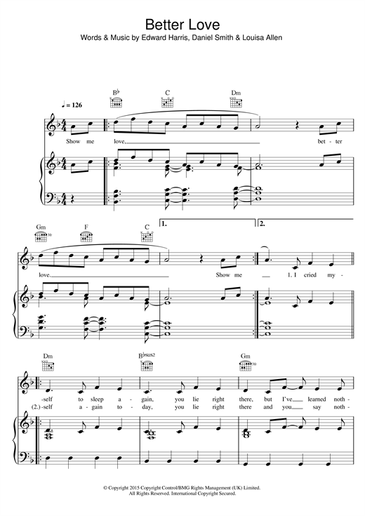 Download Foxes 'Better Love' Digital Sheet Music Notes & Chords and start playing in minutes