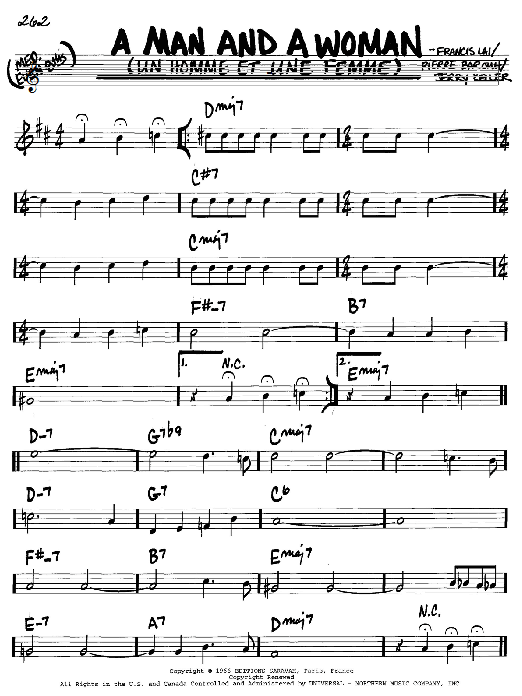 Download Francis Lai 'A Man And A Woman (Un Homme Et Une Femme)' Digital Sheet Music Notes & Chords and start playing in minutes