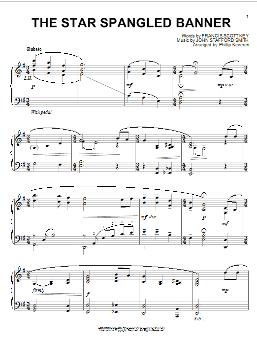 Download John Stafford Smith 'The Star Spangled Banner' Digital Sheet Music Notes & Chords and start playing in minutes
