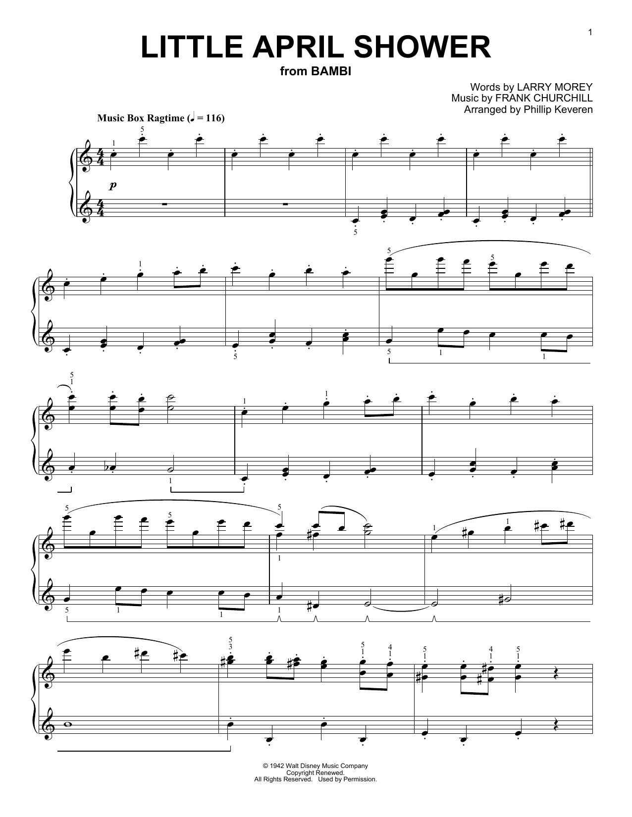 Download Phillip Keveren 'Little April Shower' Digital Sheet Music Notes & Chords and start playing in minutes