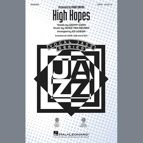 Frank Sinatra High Hopes (arr. Ed Lojeski) - Bass profile picture