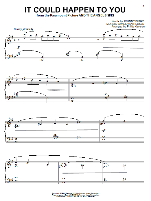 Frank Sinatra It Could Happen To You sheet music preview music notes and score for Guitar Tab including 2 page(s)