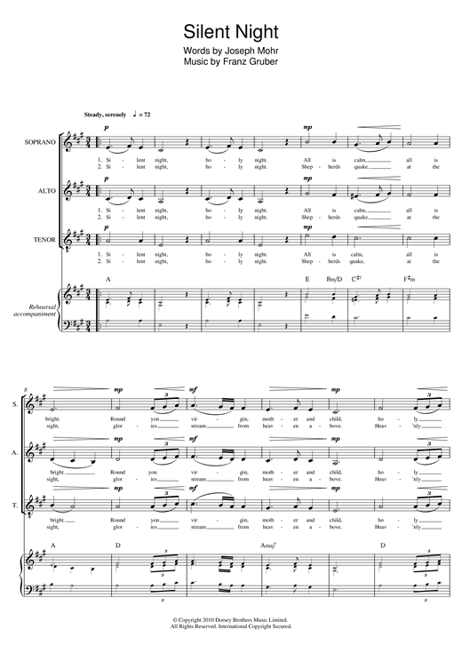 Download Franz Gruber 'Silent Night (arr. Mark De-Lisser)' Digital Sheet Music Notes & Chords and start playing in minutes
