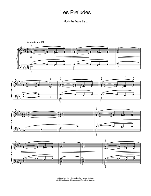 Download Franz Liszt 'Les Preludes' Digital Sheet Music Notes & Chords and start playing in minutes