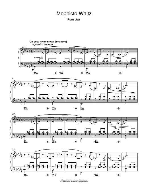 Download Franz Liszt 'Mephisto Waltz' Digital Sheet Music Notes & Chords and start playing in minutes
