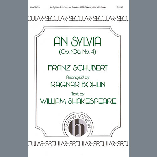 Franz Schubert An Sylvia (op. 106, No. 4) (arr. Ragnar Bohlin) profile picture