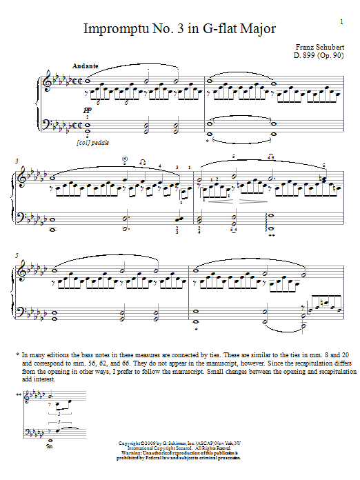 Download Franz Schubert 'Impromptu No. 3 In G Flat Major' Digital Sheet Music Notes & Chords and start playing in minutes