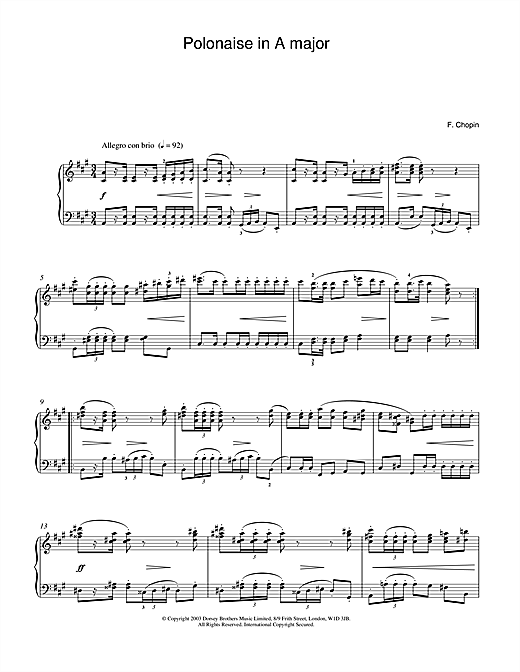 Download Frederic Chopin 'Polonaise Op.40, No.1' Digital Sheet Music Notes & Chords and start playing in minutes