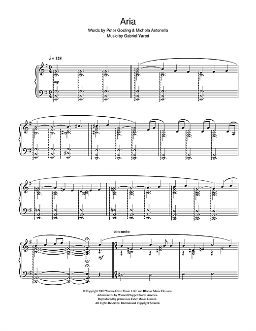 Download Gabriel Yared 'Possesso (from Possession)' Digital Sheet Music Notes & Chords and start playing in minutes