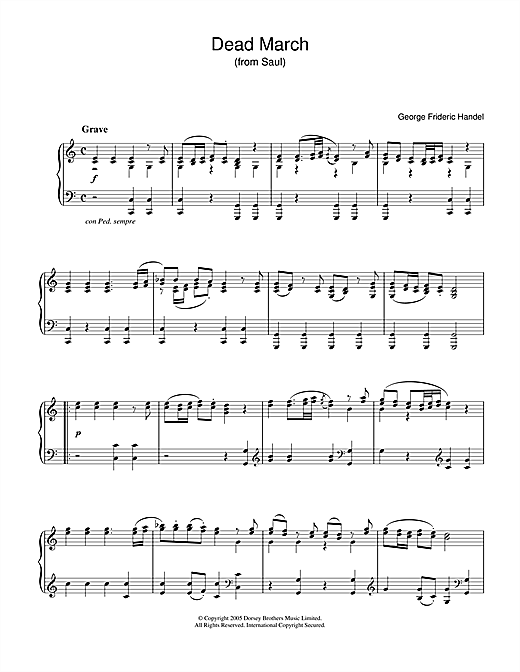 Download George Frideric Handel 'Dead March (from Saul)' Digital Sheet Music Notes & Chords and start playing in minutes