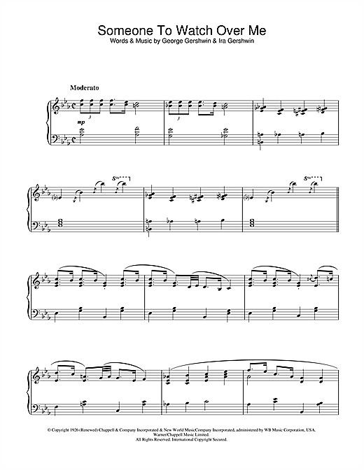 Download George Gershwin 'Someone To Watch Over Me (from Oh, Kay!)' Digital Sheet Music Notes & Chords and start playing in minutes