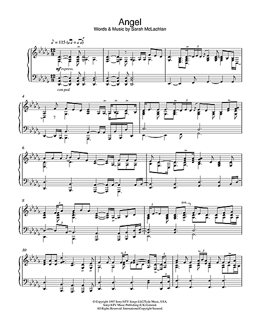 George Winston Angel sheet music notes and chords