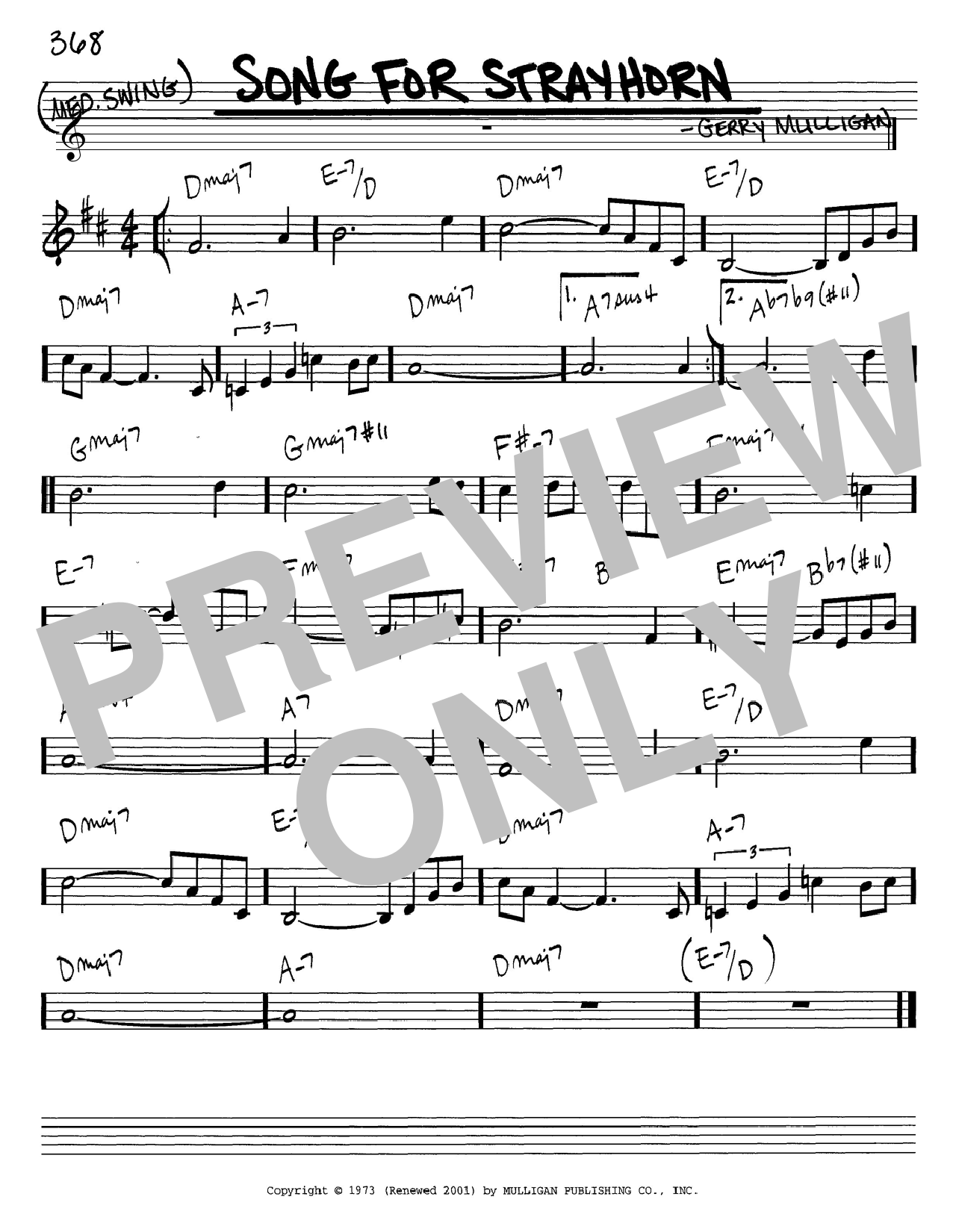 Download Gerry Mulligan 'Song For Strayhorn' Digital Sheet Music Notes & Chords and start playing in minutes
