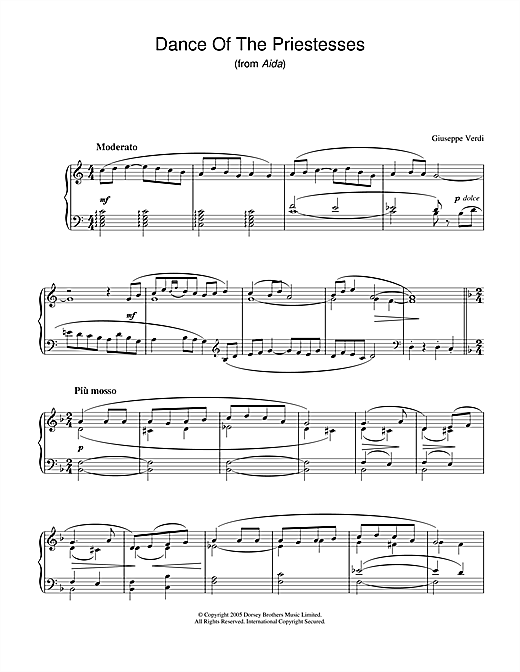 Giuseppe Verdi Dance Of The Priestesses (from Aida) sheet music notes and chords