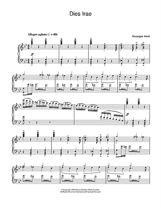 Download Giuseppe Verdi 'Dies Irae (from Requiem)' Digital Sheet Music Notes & Chords and start playing in minutes