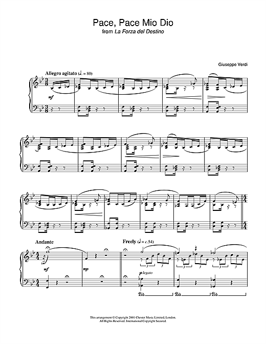 Download Giuseppe Verdi 'Pace, Pace Mio Dio from 'la Forza Del Destino'' Digital Sheet Music Notes & Chords and start playing in minutes