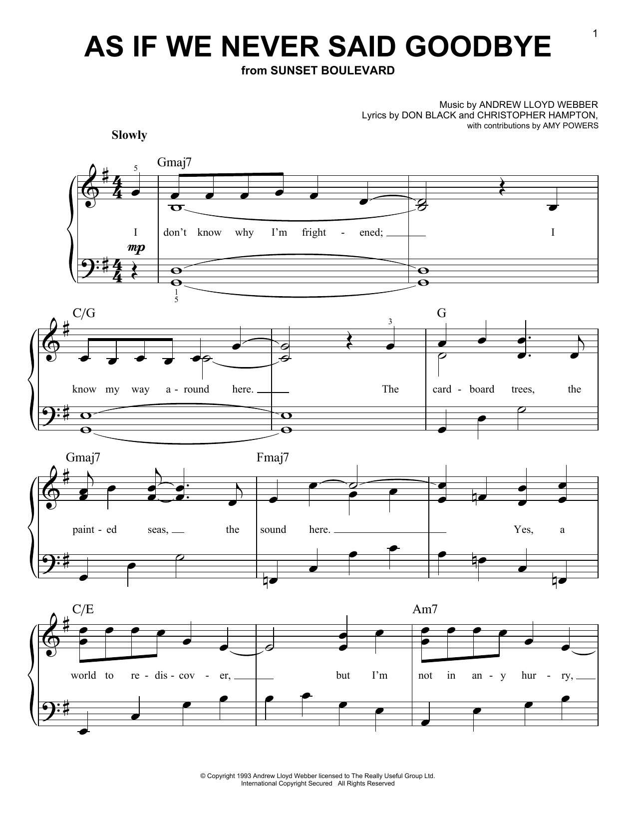 Download Glee Cast 'As If We Never Said Goodbye' Digital Sheet Music Notes & Chords and start playing in minutes