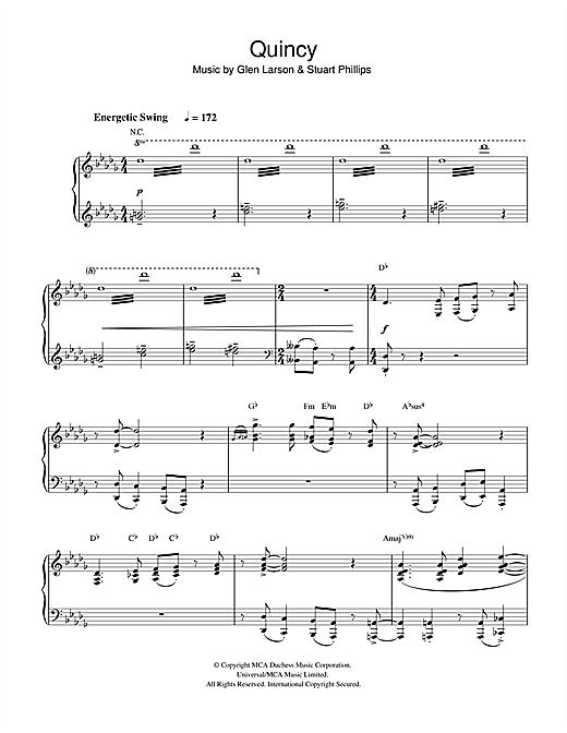 Download Glen Larson 'Quincy' Digital Sheet Music Notes & Chords and start playing in minutes