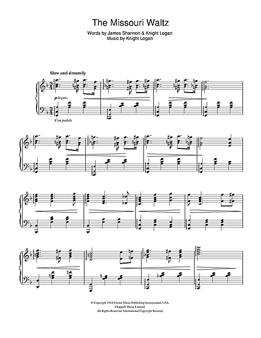 Download Glenn Miller 'The Missouri Waltz' Digital Sheet Music Notes & Chords and start playing in minutes