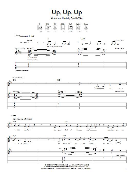 Goo Goo Dolls Up, Up, Up sheet music notes and chords