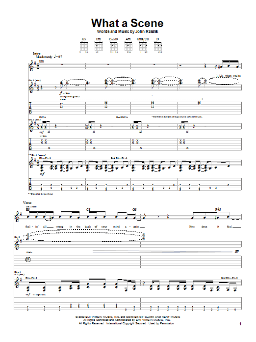 Goo Goo Dolls What A Scene sheet music notes and chords