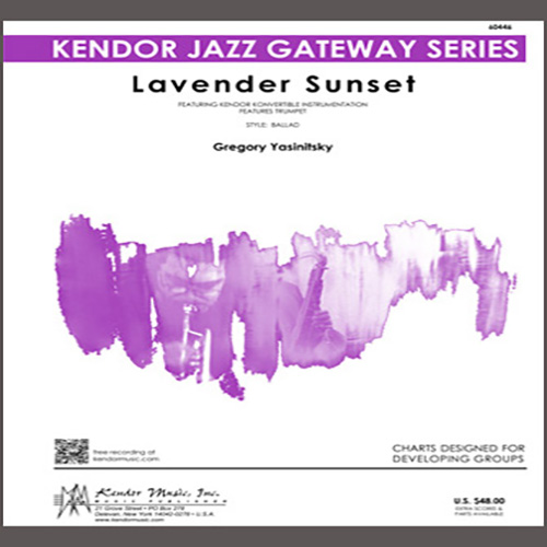 Gregory Yasinitsky Lavender Sunset - 1st Eb Alto Saxophone profile picture