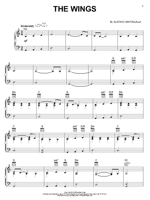Download Gustavo Santaolalla 'The Wings' Digital Sheet Music Notes & Chords and start playing in minutes