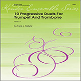 Download Halferty 10 Progressive Duets For Trumpet And Trombone Sheet Music arranged for Brass Ensemble - printable PDF music score including 25 page(s)