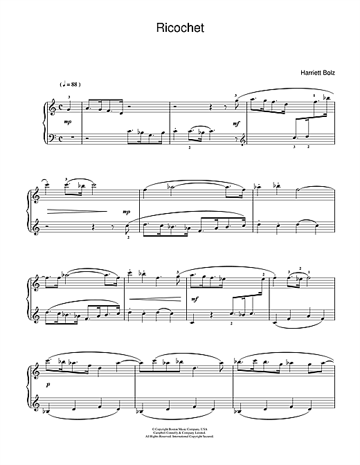 Download Harriet Bolz 'Ricochet' Digital Sheet Music Notes & Chords and start playing in minutes