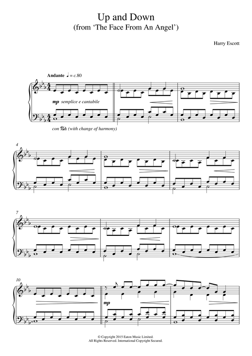 Download Harry Escott 'Up & Down (from 'The Face Of An Angel')' Digital Sheet Music Notes & Chords and start playing in minutes