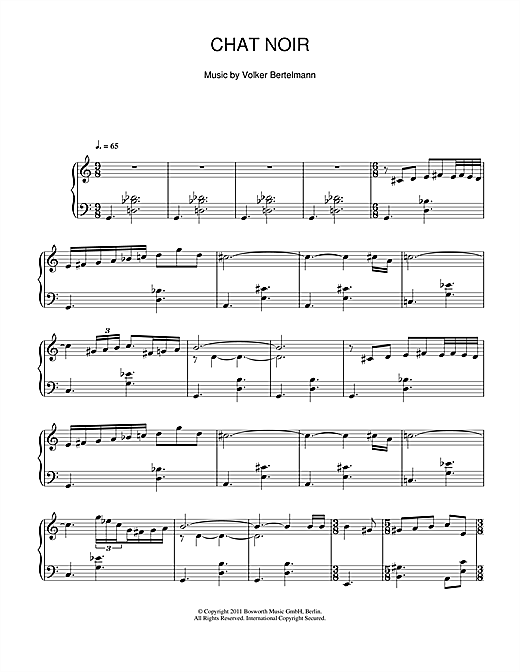 Download Hauschka 'Chat Noir' Digital Sheet Music Notes & Chords and start playing in minutes