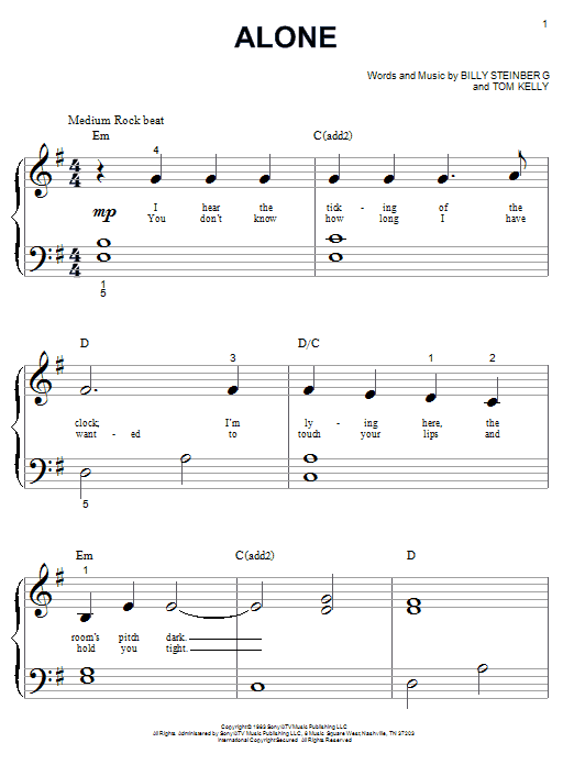Heart Alone sheet music preview music notes and score for Guitar Tab including 4 page(s)