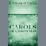 Download or print A Tribute of Carols - Harp Sheet Music Notes by Heather Sorenson for Choir Instrumental Pak