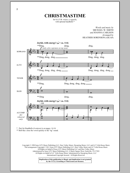Heather Sorenson Christmastime sheet music notes and chords