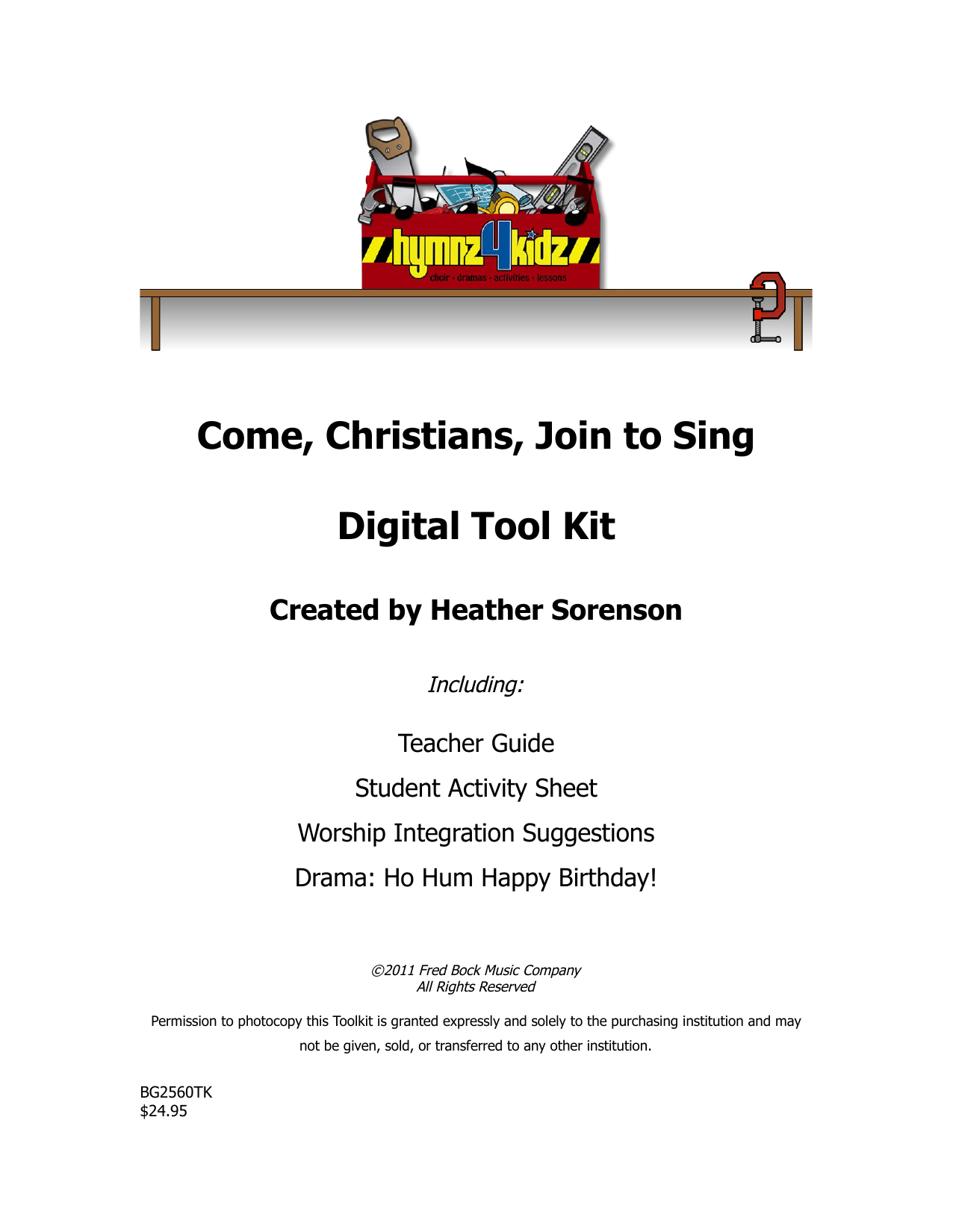Download Heather Sorenson 'Come, Christians, Join To Sing' Digital Sheet Music Notes & Chords and start playing in minutes