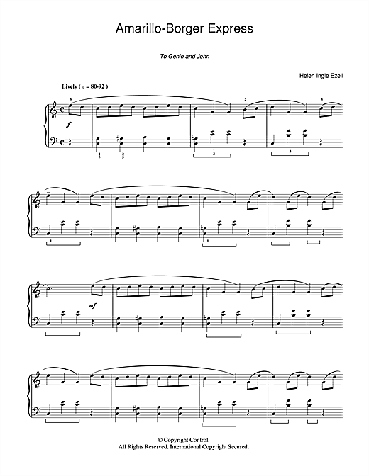 Download Helen Ingle Ezell 'Amarillo-Borger Express' Digital Sheet Music Notes & Chords and start playing in minutes