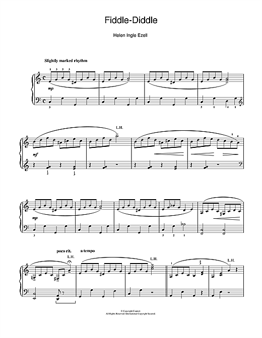 Download Helen Ingle Ezell 'Fiddle-Diddle' Digital Sheet Music Notes & Chords and start playing in minutes